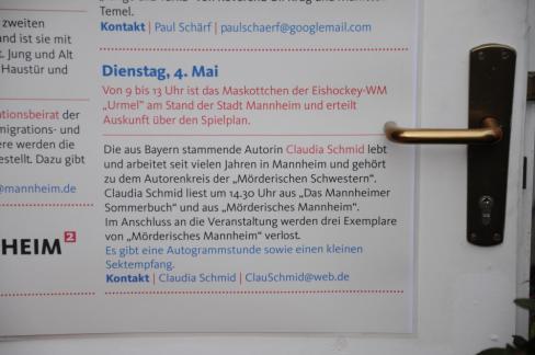 Die Ankündigung im Programm des Mannheimer Maimarktes